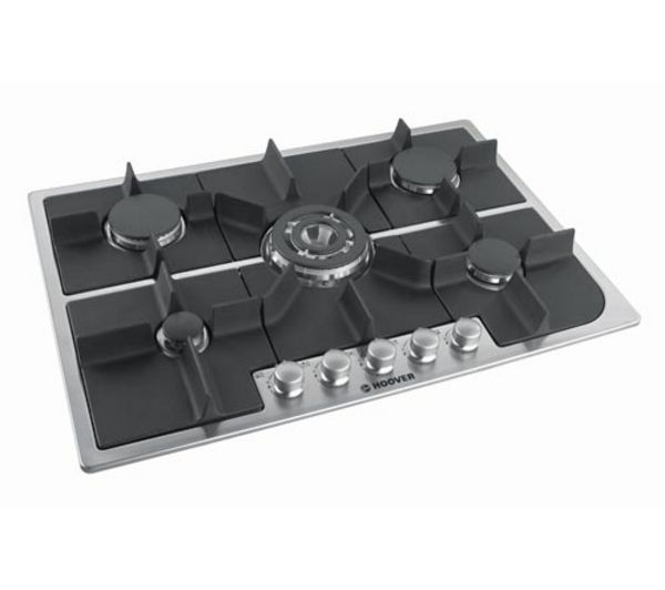 HOOVER HGH75SQDX Gas Hob  Stainless Steel Stainless Steel