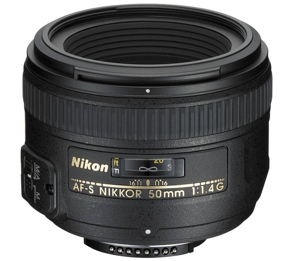 NIKON AF-S NIKKOR 50 mm f/1.4 G SWM Standard Prime Lens + DSLR Cleaning Kit
