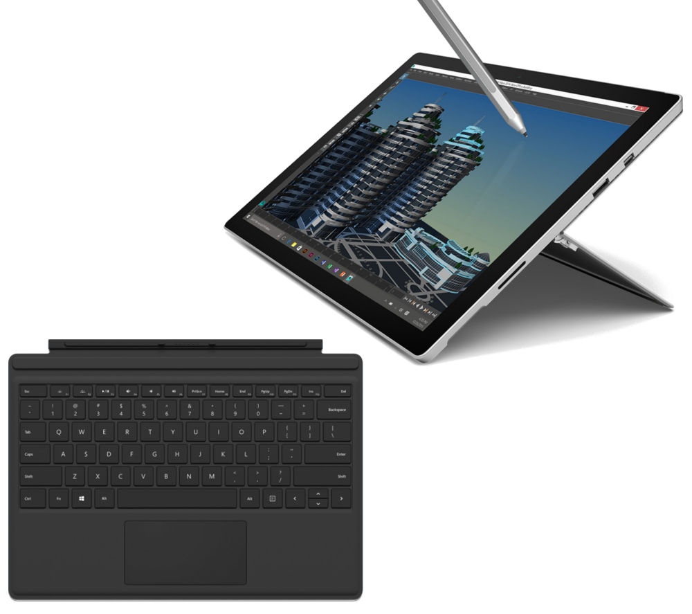 MICROSOFT Surface Pro 4 256 GB & Black Typecover Bundle