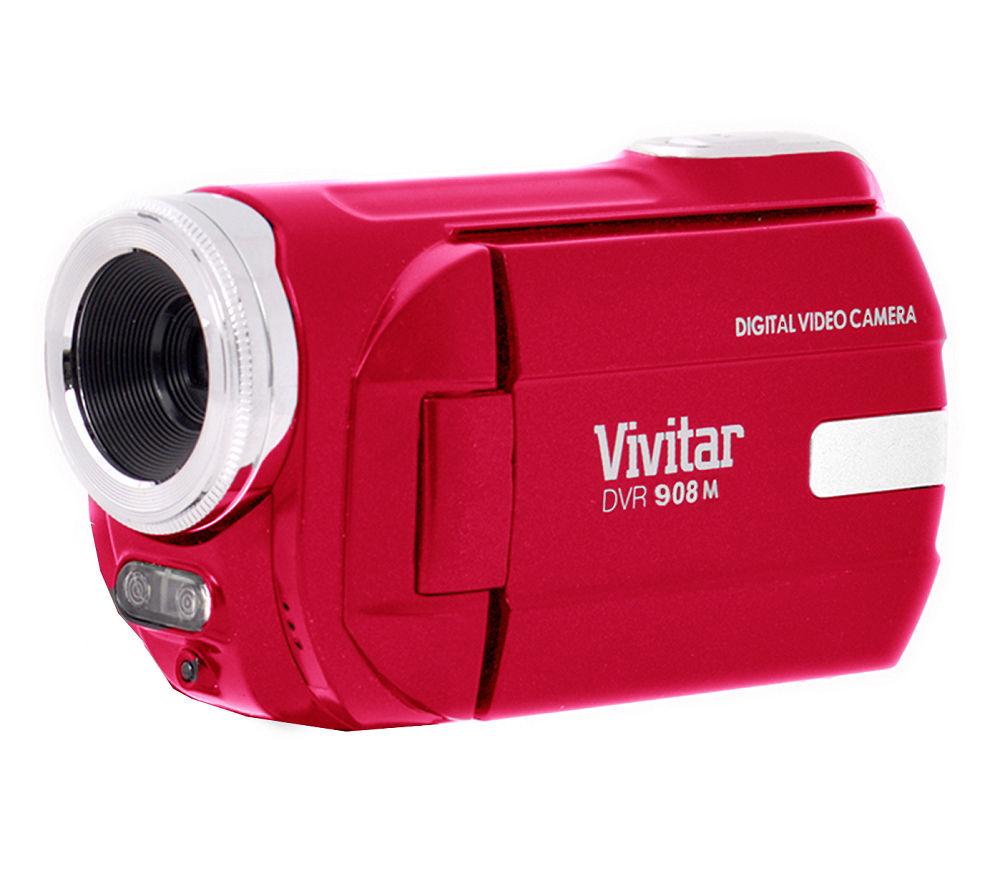 Vivitar DVR908MFD Traditional Camcorder  Red Red