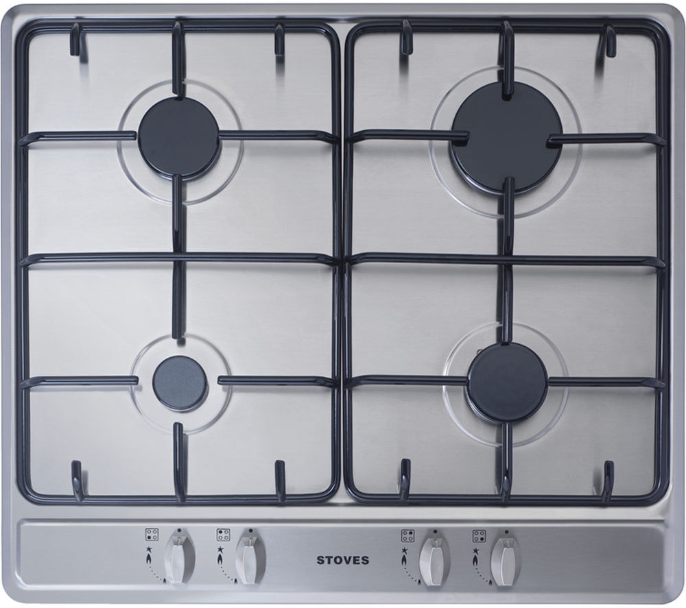 STOVES  SGH600E Gas Hob  Stainless Steel Stainless Steel