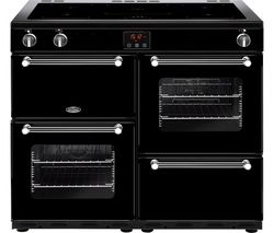 BELLING Kensington 100Ei Electric Induction Range Cooker - Black & Chrome
