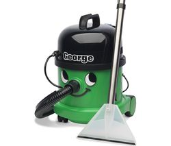 NUMATIC George GVE370 3-in-1 Cylinder Wet & Dry Vacuum Cleaner - Green & Black