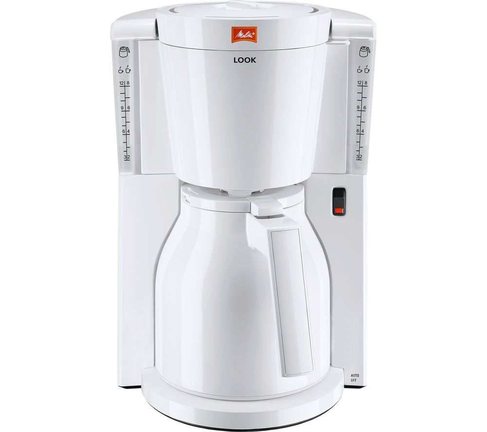 buy melitta look iv therm filter coffee machine white free delivery currys. Black Bedroom Furniture Sets. Home Design Ideas
