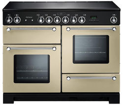 RANGEMASTER Kitchener 110 Electric Ceramic Range Cooker - Cream & Chrome