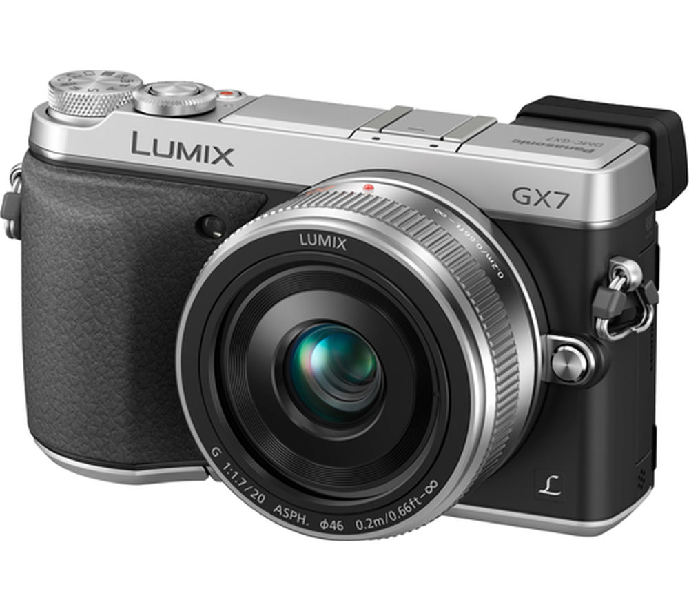 PANASONIC Lumix DMC-GX7CEB-S Compact System Camera with 20 mm f/1.7 Pancake Lens - Silver