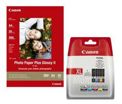 CANON PGI-550XL/CLI-551 Cyan, Magenta, Yellow & Black Ink Cartridges - Multipack