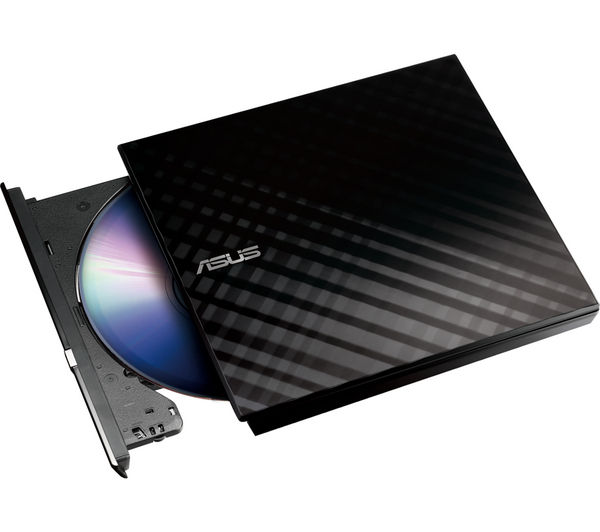 Asus SDRW08D2SU LITE External Slimline SATA DVD Writer  Black Black