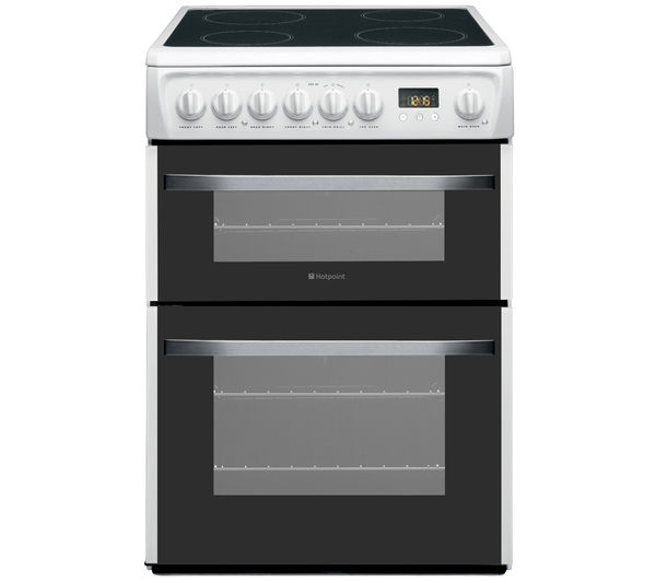 Electric Cookers Freestanding ~ Hotpoint freestanding electric ceramic cooker double oven