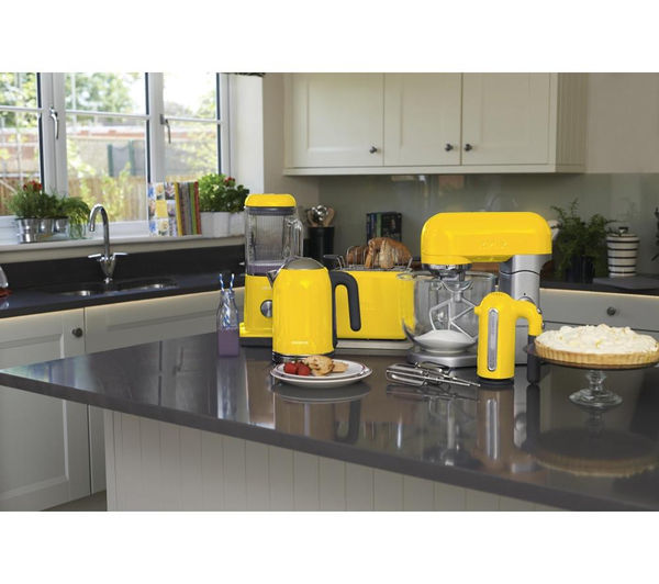 kmix ttm020yw 2 slice toaster yellow free delivery currys