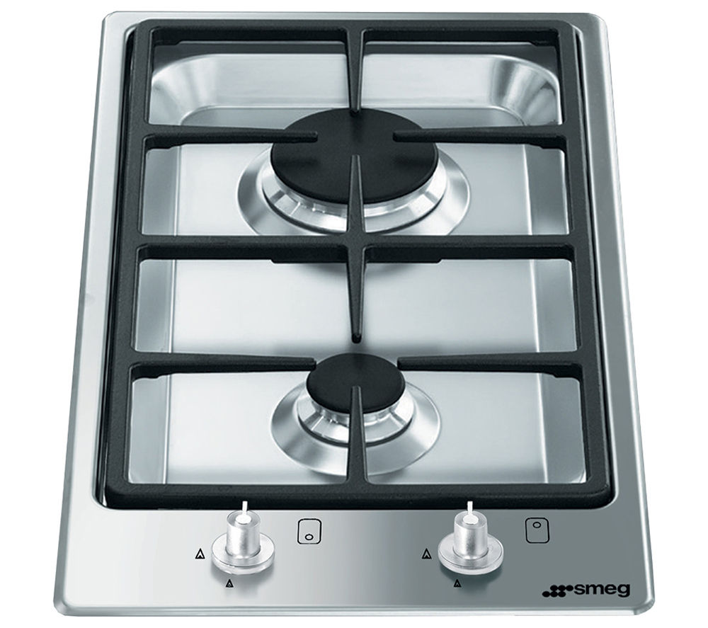 Image of Smeg Classic PGF32G Domino Gas Hob - Stainless Steel, Stainless Steel