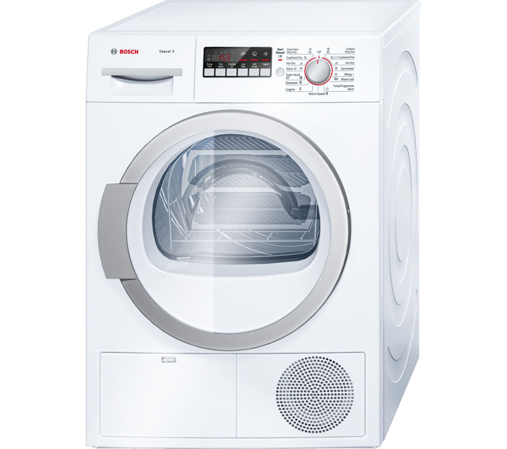 BOSCH  WTB86590GB Condenser Tumble Dryer - White +  SMS40T32GB Full-size Dishwasher - White