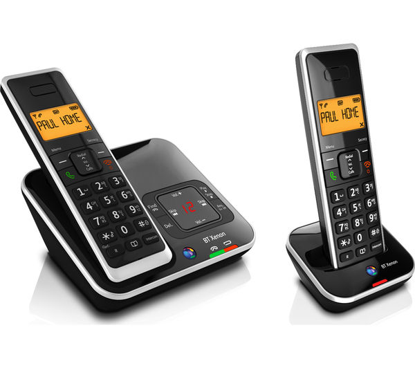 bt xenon 1500 cordless phone with answering machine twin. Black Bedroom Furniture Sets. Home Design Ideas