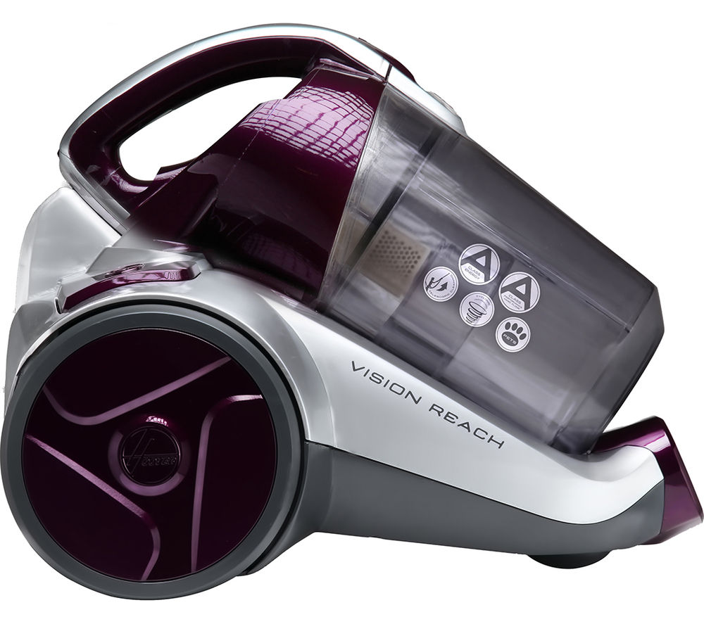 HOOVER Vision Reach BF70_VS01 Cylinder Bagless Vacuum Cleaner - Purple & Silver