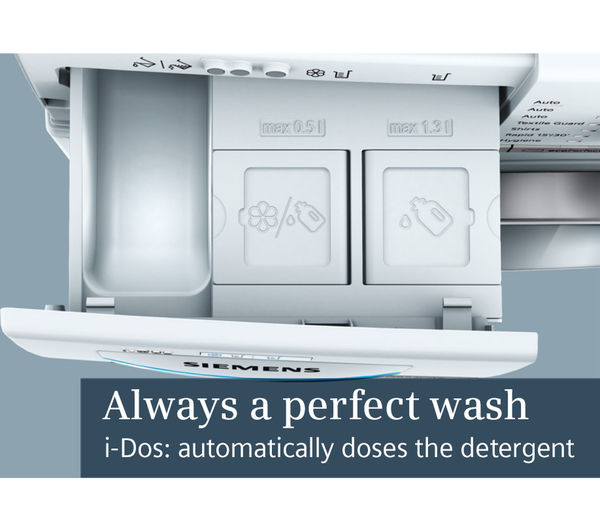 buy siemens wm14y892gb idos washing machine white free delivery currys. Black Bedroom Furniture Sets. Home Design Ideas