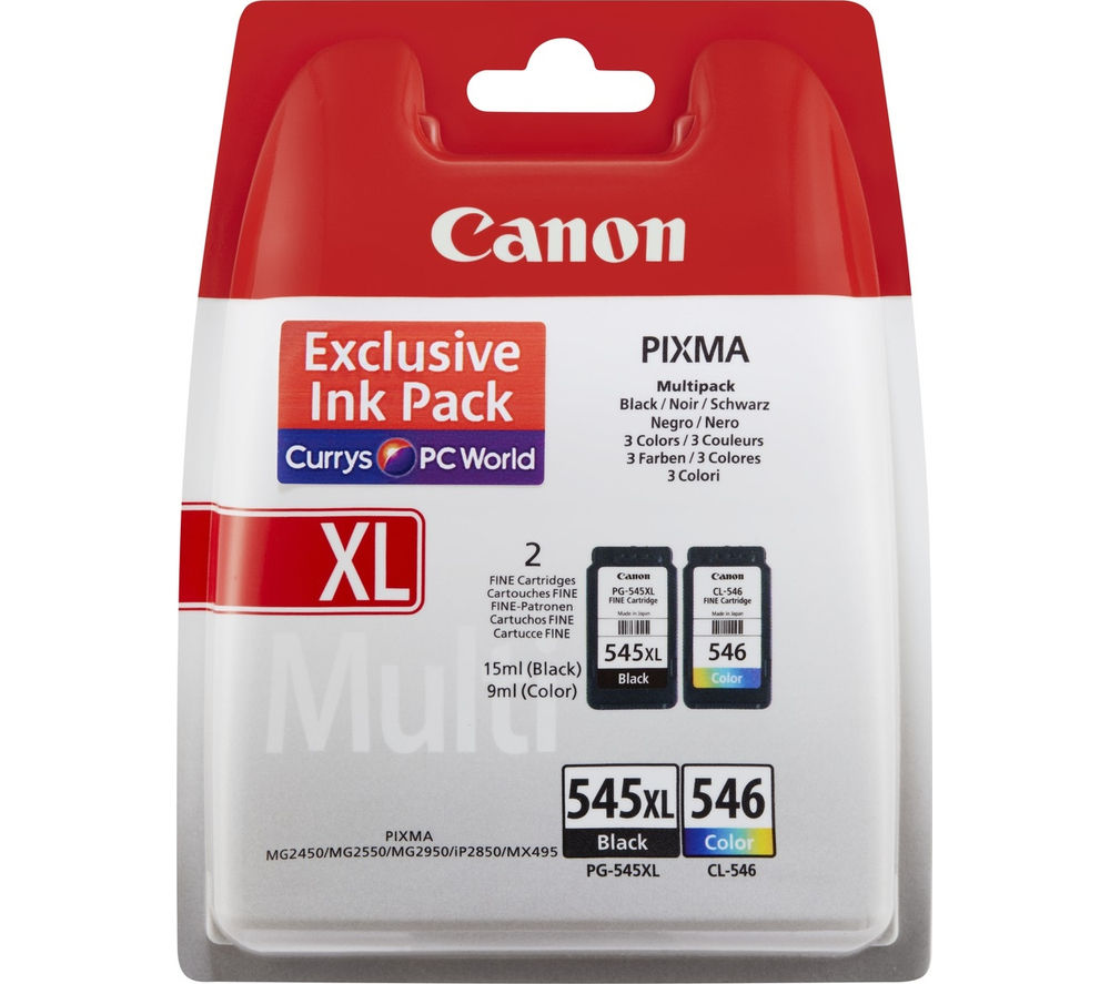 CANON PG-545XL/CL-546 Tri-colour & Black Ink Cartridges - Multipack