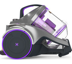 VAX Dynamo Power Reach C85-Z2-RE Cylinder Bagless Vacuum Cleaner - Graphite, Purple & Black