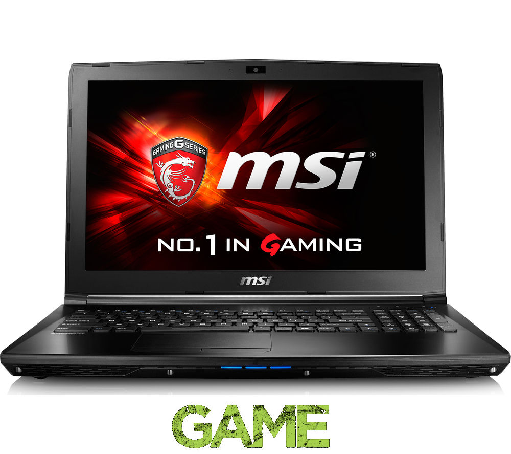 "MSI  GL62 6QD 15.6"" Gaming Laptop - Black +  LiveSafe Unlimited 2016"