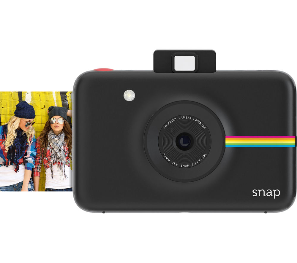 buy polaroid snap instant camera black free delivery currys. Black Bedroom Furniture Sets. Home Design Ideas