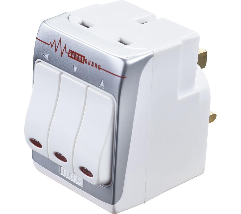 MASTERPLUG MSWRG3-MP Surge Protector 3-Socket Plug Adaptor