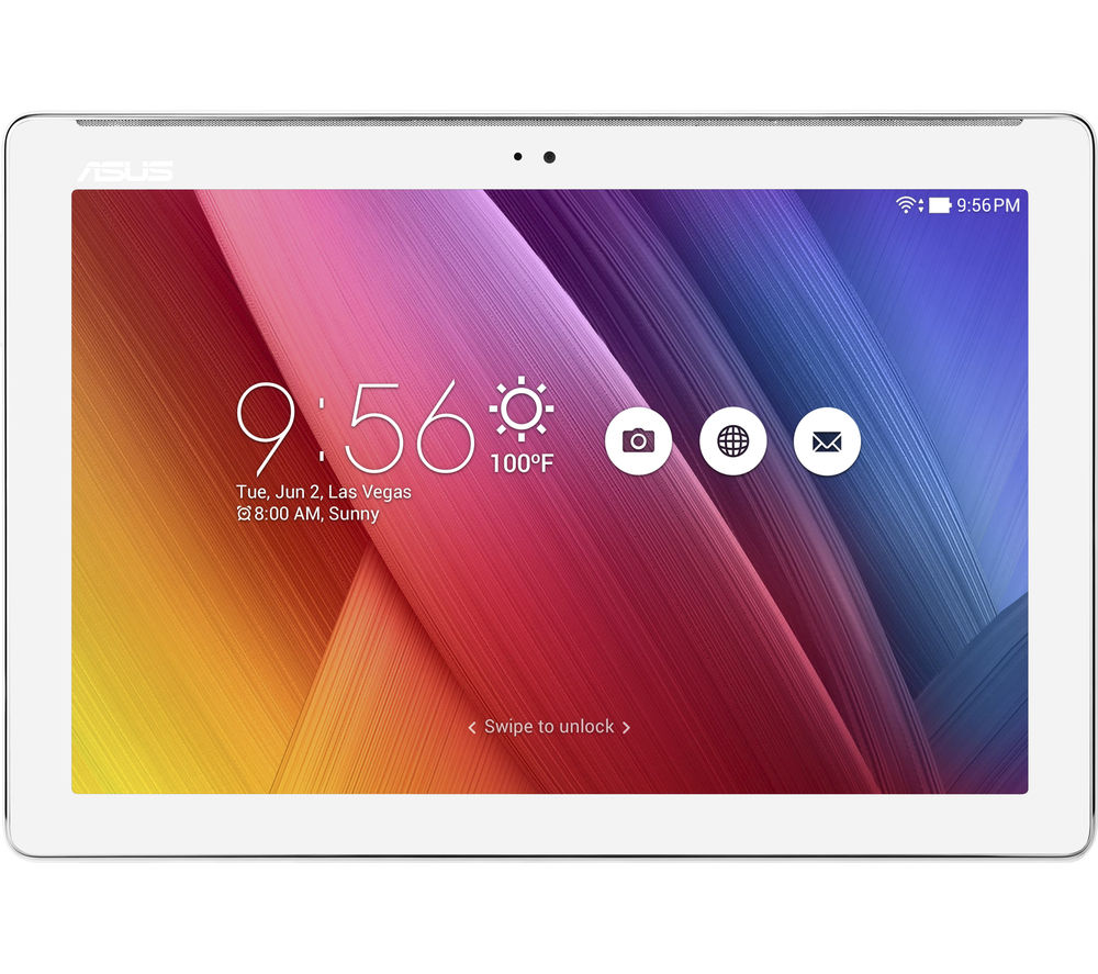 "ASUS ZenPad Z300M 10.1"" Tablet - 16 GB, White + LiveSafe Unlimited 2017 - 1 year + Cloud Storage for Tablets & Mobiles - 200 GB, 1 year"