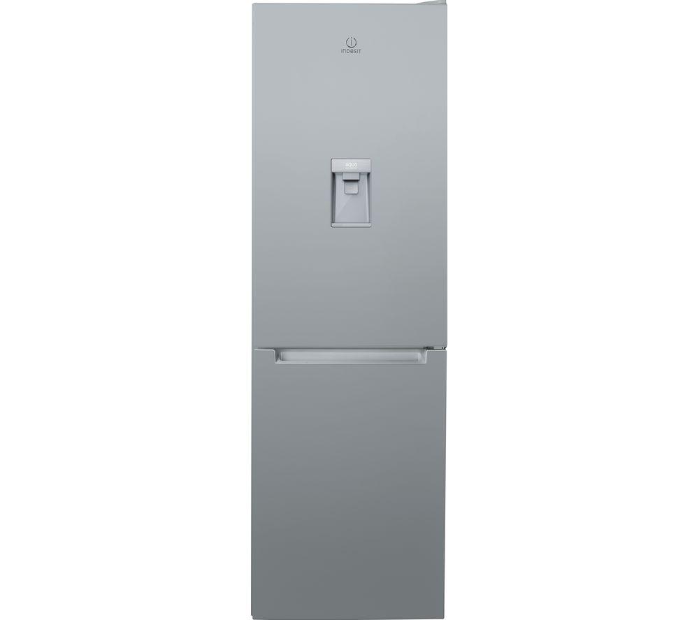Image of INDESIT LR8 S1S AQ Fridge Freezer - Silver, Silver