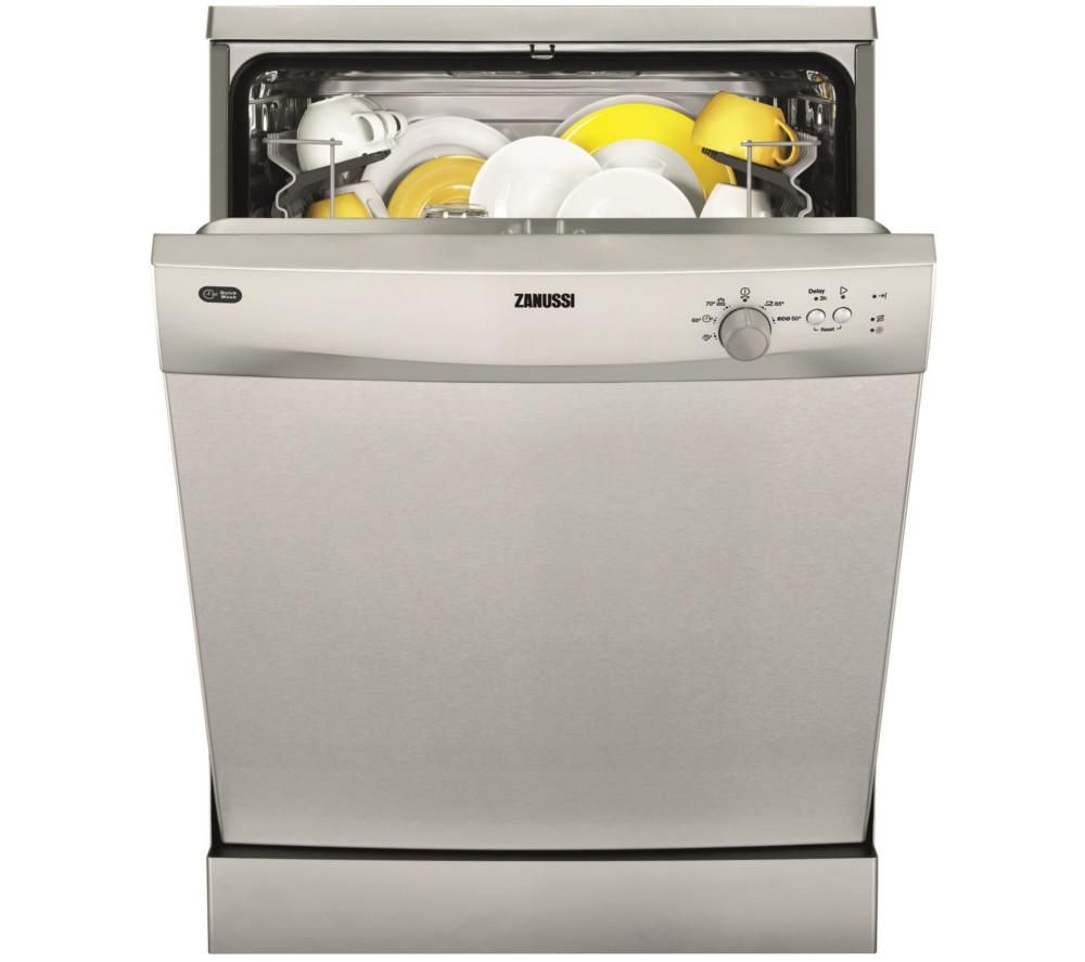 ZANUSSI  ZDF21001XA Fullsize Dishwasher  Stainless Steel Stainless Steel