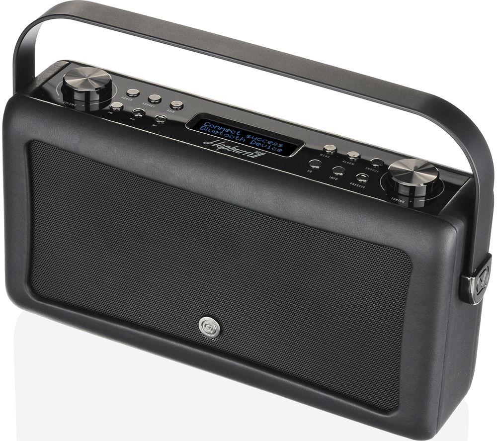 Click to view more of VQ  Hepburn Mk II Portable DABﱓ Bluetooth Clock Radio - Black, Black