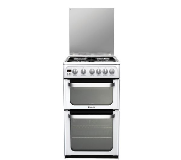 HOTPOINT HUG52P Gas Cooker  - White