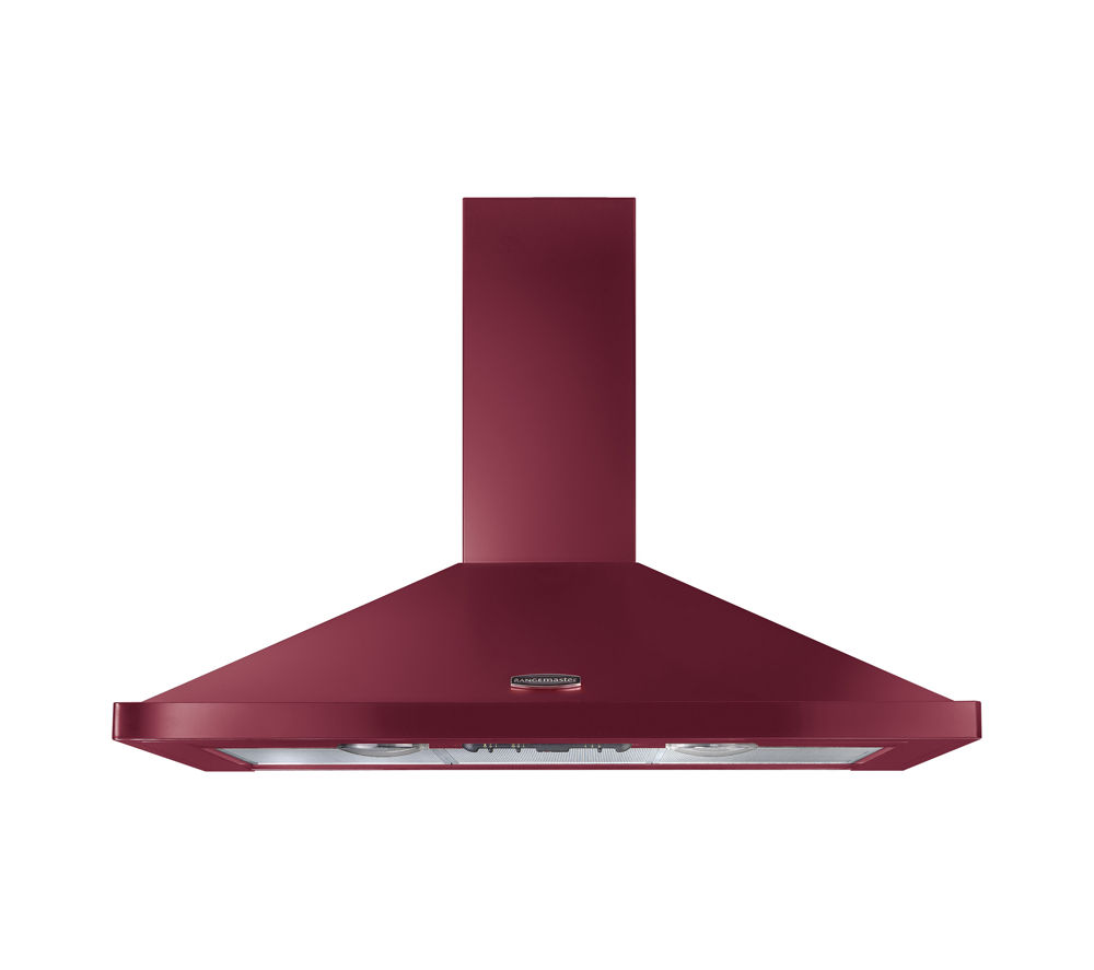 RANGEMASTER LEIHDC110CY/C Chimney Cooker Hood - Cranberry & Chrome
