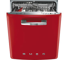 SMEG DI6FABR2 Semi-integrated Dishwasher - Red