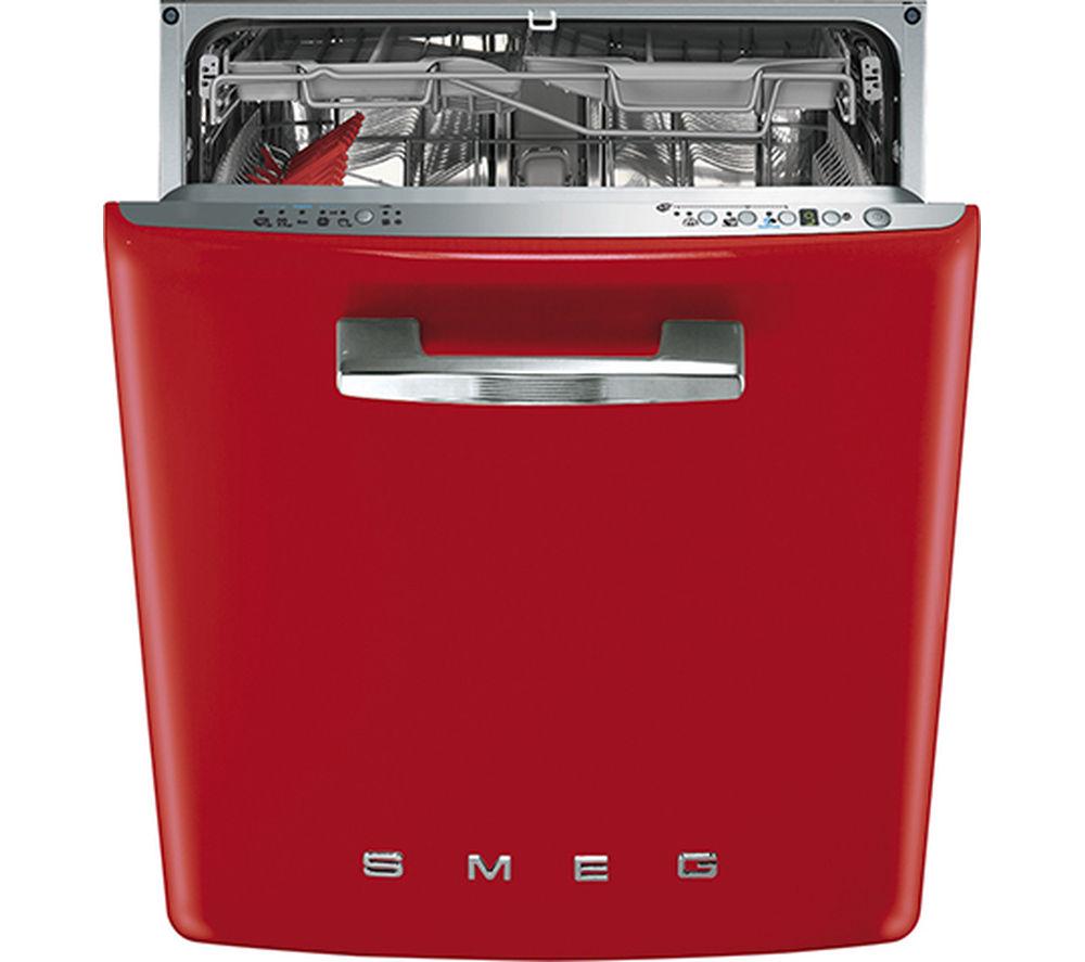 SMEG DI6FABR2 Semi-integrated Dishwasher - Red