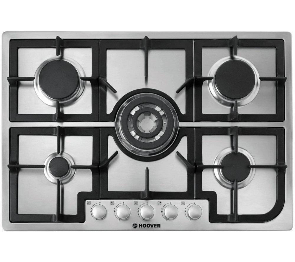 HOOVER HGH75SQCX Gas Hob - Stainless steel
