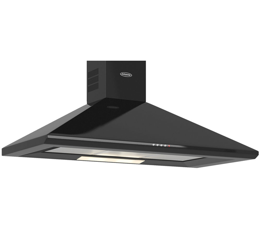 BRITANNIA  Brioso K24010K Chimney Cooker Hood  Gloss Black Black