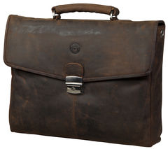 "DBRAMANTE 1928 14"" MacBook Leather Case - Hunter Brown"