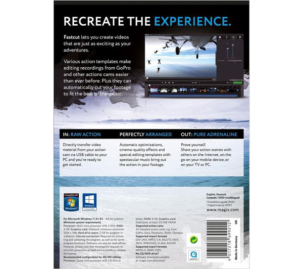 powerdirector menu templates - buy magix fastcut free delivery currys