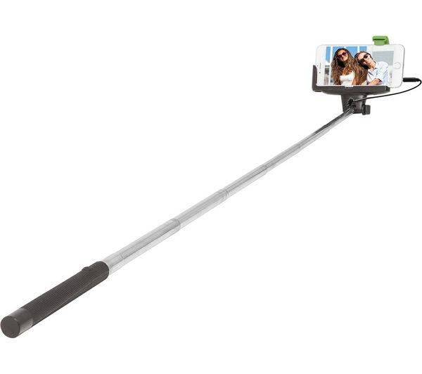 buy retrak euselfiew selfie stick black silver free delivery currys. Black Bedroom Furniture Sets. Home Design Ideas