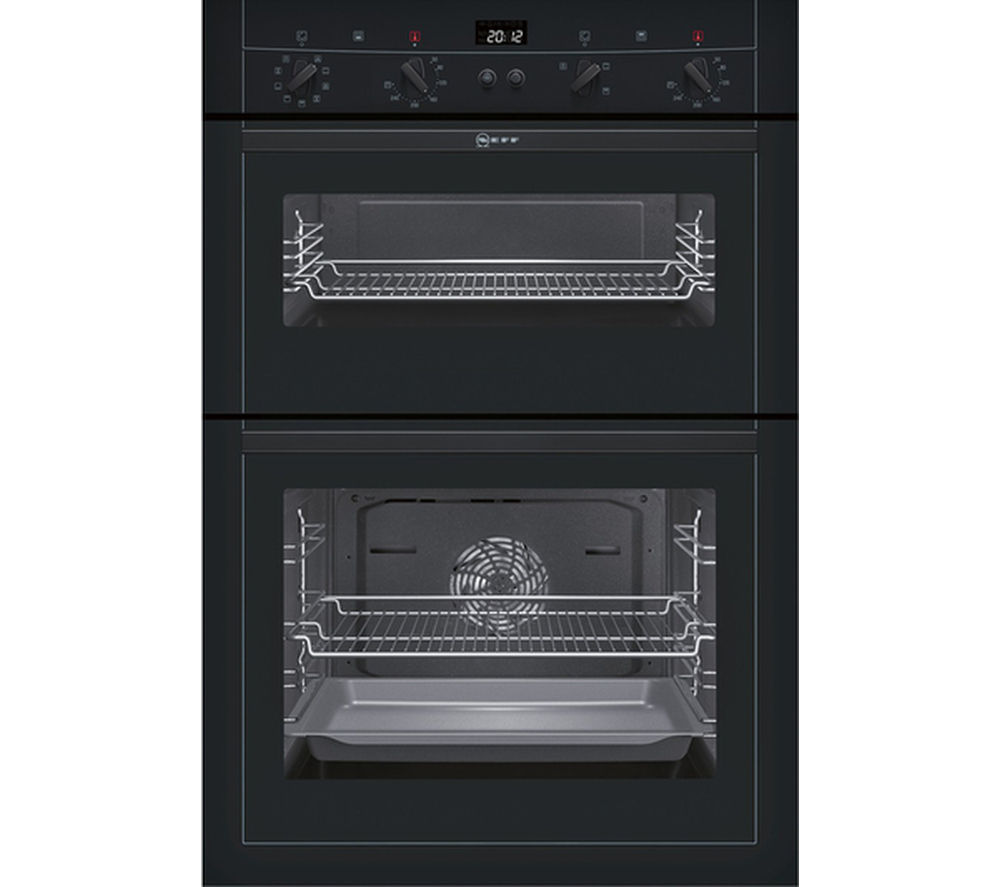 Buy neff u15m52s3gb electric double oven black t40b30x2 electric induction hob black - Neff electric ...