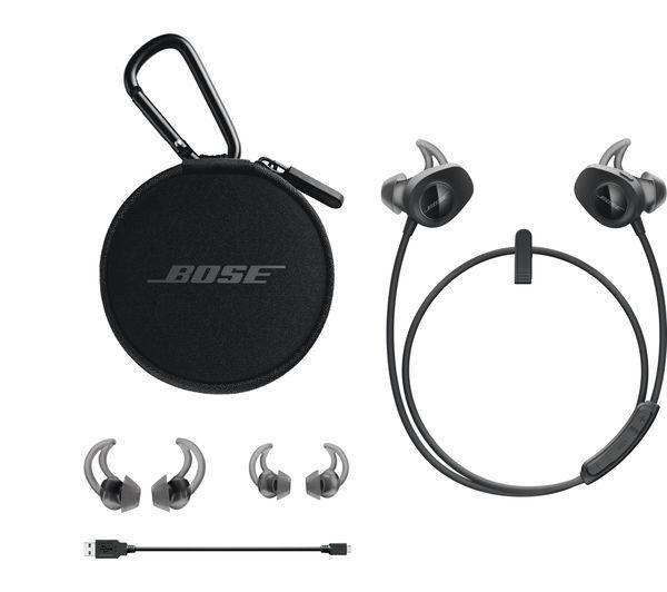BOSE SoundSport Wireless Bluetooth Headphones - Black Deals | PC World