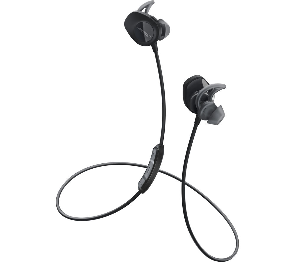 Click to view more of BOSE  SoundSport Wireless Bluetooth Headphones - Black, Black