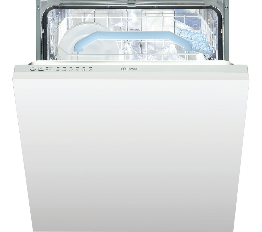 INDESIT  INDESIT DIF 16B1 Integrated Dishwasher  White White