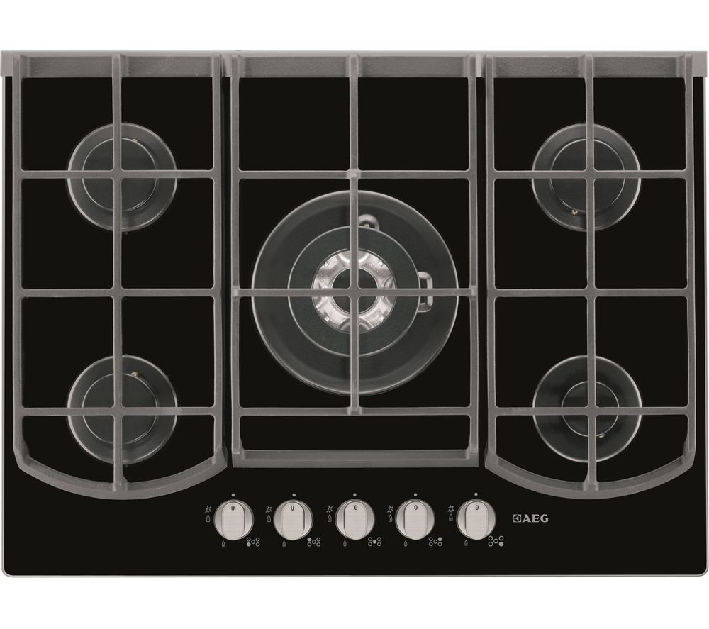 AEG  HG753430NB Gas Hob  Black Black