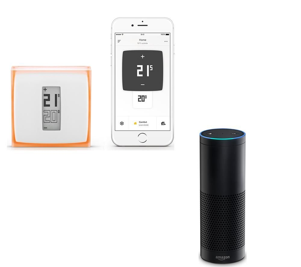 Image of AMAZON Echo with Netatmo Thermostat Bundle