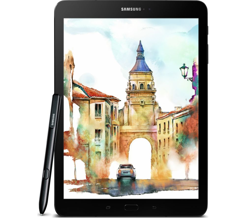 "SAMSUNG Galaxy Tab S3 9.7"" Tablet - 32 GB, Black + LiveSafe Unlimited 2017 - 1 year"