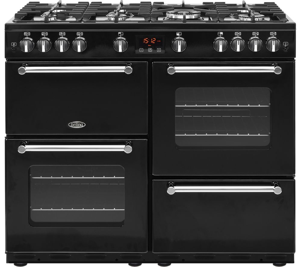 buy belling kensington 100g gas range cooker black. Black Bedroom Furniture Sets. Home Design Ideas