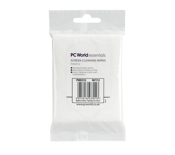 ESSENTIALS PSW2512 Screen Wipes - 25 Pack