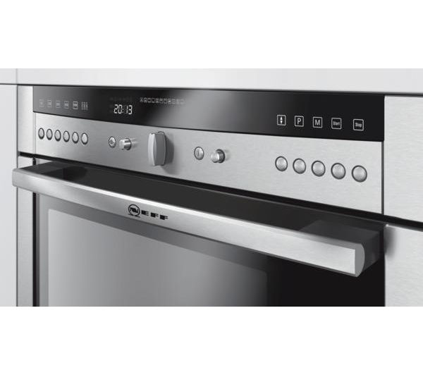 Buy neff series 5 c67m70n3gb compact combination oven with for Small built in microwave oven