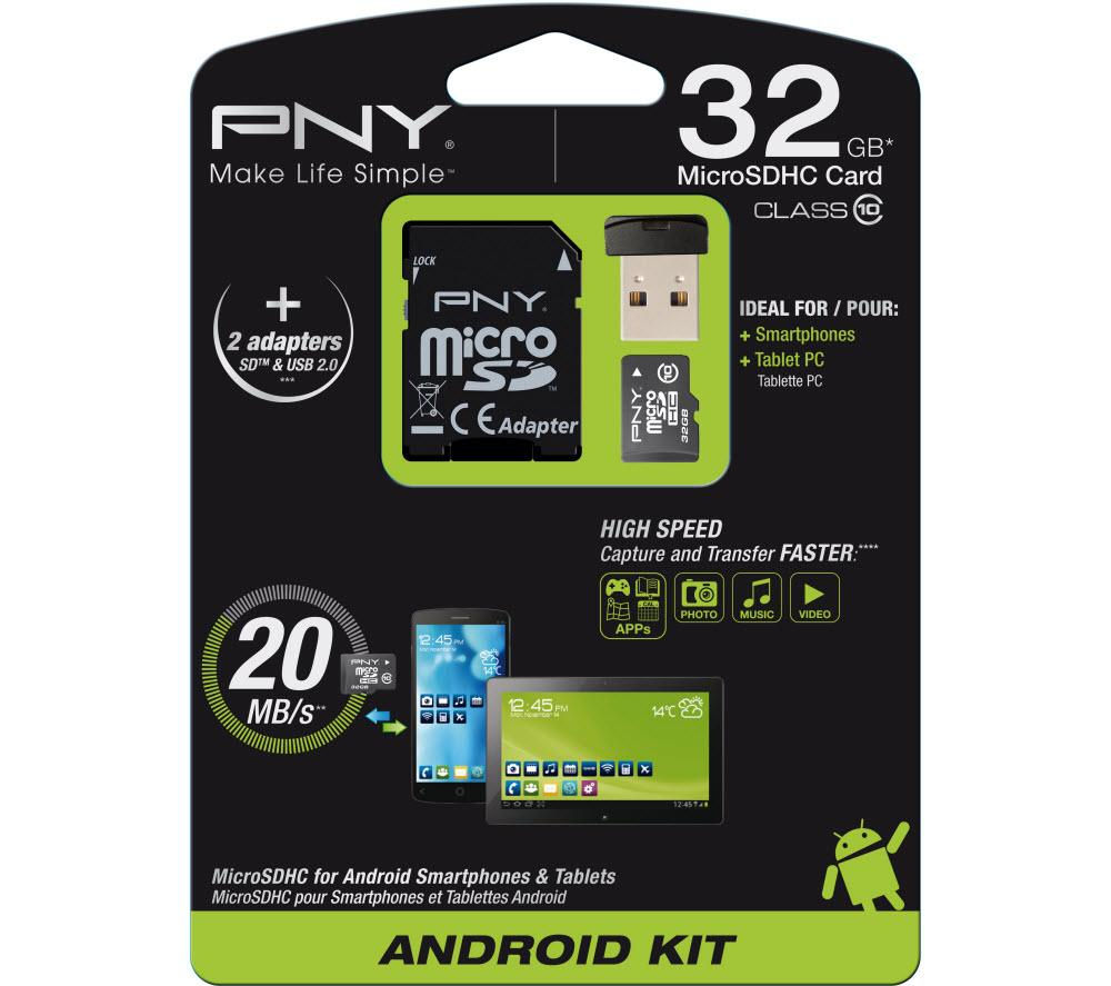 Pny Class 10 microSD Memory Card  32 GB