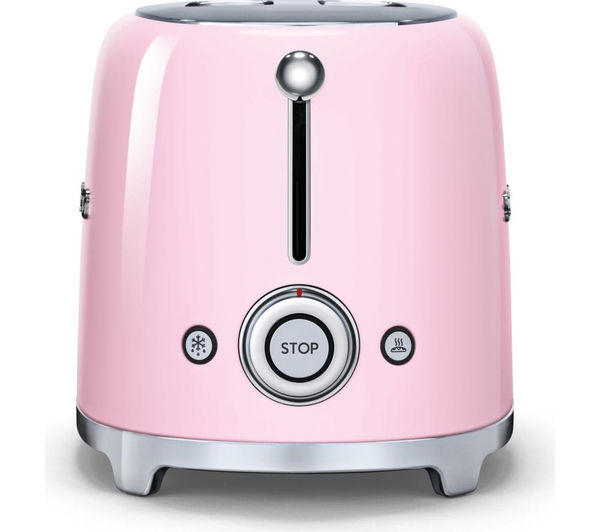 Buy SMEG TSF01PKUK 2 Slice Toaster  Pink  Free Delivery  Currys
