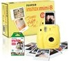 FUJIFILM Instax Mini 8 Instant Camera & 10 Shot Bundle - Yellow